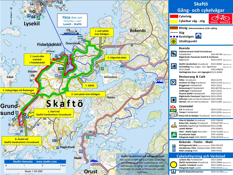 Cykla Skaftö runt från Grundsund