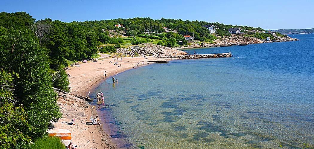 Gullmarsbaden badplats i Lysekil